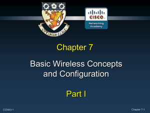 Chapter 7 Wireless - Lone Star College System