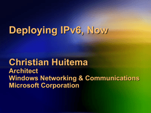 Deploying IPv6, now