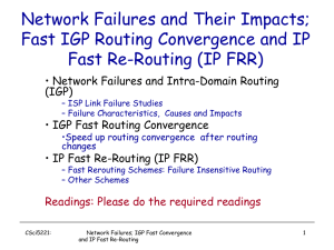fast rerouting - CSE Labs User Home Pages