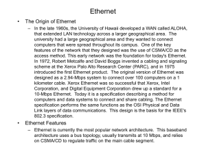 Ethernet - Binus Repository