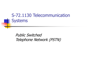 S-72.423 Telecommunication Systems