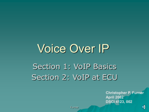 Voice Over IP - Christopher P. Furner