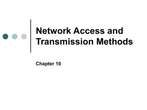 ch 10 Network Access and Transmission Methods