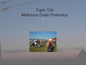 Lesson 11a - Malicious Software (Malware)