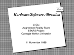 Hardware/Software Allocation