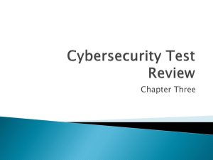 Cybersecurity Chapter 3 Test Review