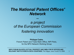 The National Patent Offices` Network