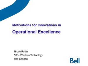 Bell Canada Holdings Strategic Plan 2004