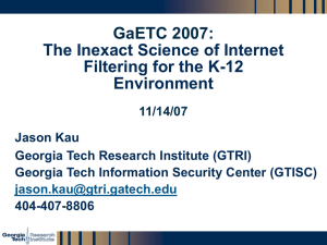 The Inexact Science of Internet Filtering for the K