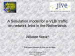 A Simulation model for e-VLBI traffic on network links in the