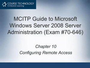 MCITP Guide to Microsoft Windows Server 2008 Server