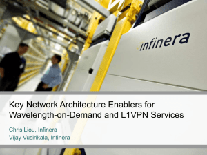 Key Network Architecture Enablers for Wavelength-on