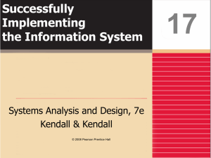 Successfully Implementing the Information System
