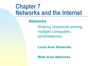 Chapter 7 Networks and the Internet