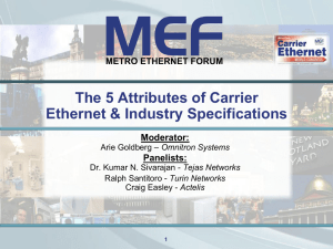 The 5 MEF Attributes of Carrier Ethernet & Inter