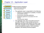 Chapter 15 - The Application Layer