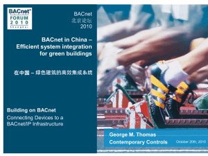 BACnet in China