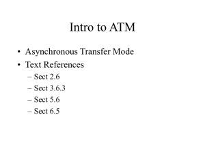 Intro to ATM - CS Course Webpages
