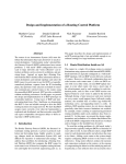 Design and Implementation of a Routing Control Platform Matthew Caesar Donald Caldwell
