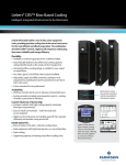 Liebert CRV™ Row-Based Cooling Intelligent, Integrated Infrastructure for the Data Center ®