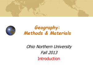 Geography 176A Introduction to Geographic Information Systems