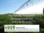 Ecologically Sustainable Development in NT Horticulture
