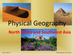 Physical Features of North Africa and Southwest Asia