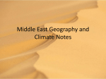 Middle East Geography and Climate Notes