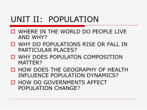 unit ii: population - Effingham County Schools