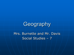 Geography - Warren County Schools