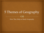 5 Themes of Geography - Canton Local Schools