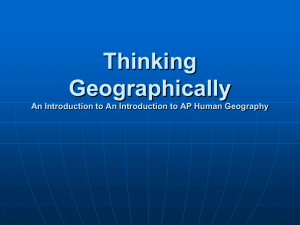 Thinking Geographically An Introduction to An