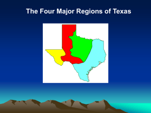 The Four Major Regions of Texas