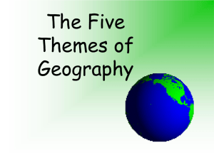 5 Themes of Geography PowerPoint Presentation