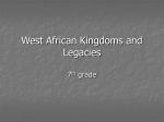 West African Kingdoms and Legacies