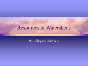 Resources & Watersheds