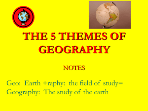 Notes for 5 Themes of Geography
