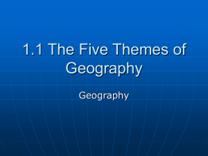 1.1 The Geographer`s Tools