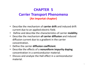 CHAPTER 5 Carrier Transport Phenomena