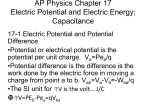 AP Physics Chapter 17 Electric Potential and