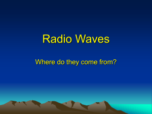 Radio waves belong to a family The