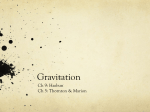 Gravitation - Siena College