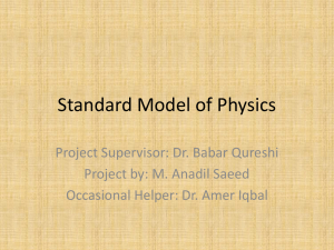 Standard Model of Physics