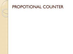 PROPOTIONAL COUNTER