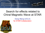 Search for effects related to Chiral Magnetic Wave at STAR