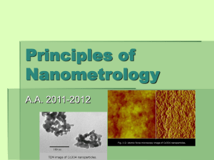 Principles of Nanometrology