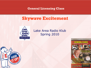 Skywave Excitement - Lake Area Radio Klub