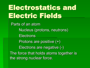 Electrostatics and Electric Fields