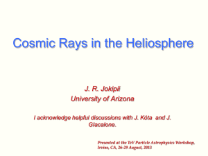 The Transport of Cosmic Rays