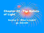 Chapter 3 - The Nature of Light